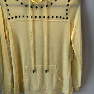 CYRUS Yellow Hoodie Top